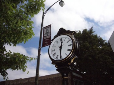 Historic Railroad Square's new clock