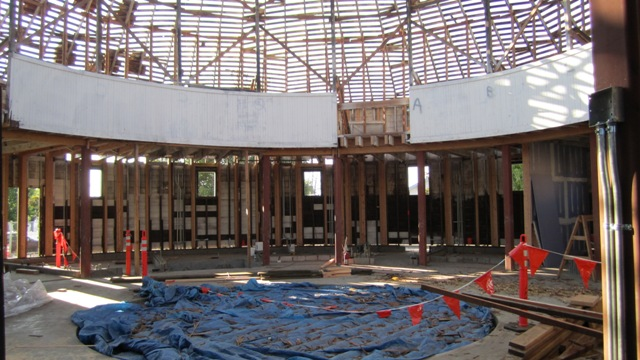 The DeTurk Round Barn Project Began In April And Projected Complete Date Is Sometime October Completion Subject To