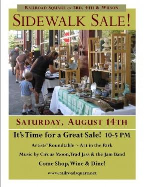 Railroad Square Sidewalk Sale