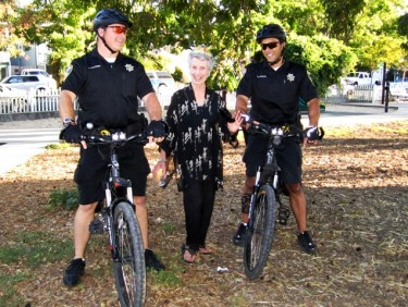 Shirley and SRPD bike patrol