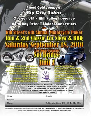 Kid Street BBQ, Car show & Poker run