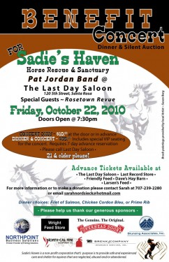 Benefit for Sadie's Haven at Last Day Saloon