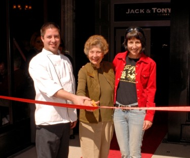 Jack Mitchell, Marsha Vas Dupre and Lea at Grand Opening