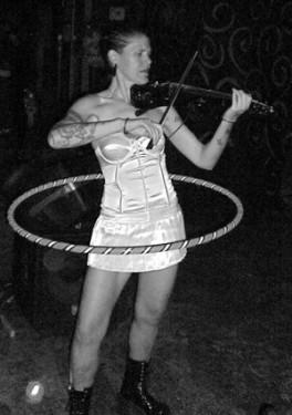 Ananta- West End Artist. Fiddler, Hula-Hooper