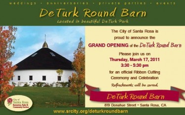 Deturk Round Barn Opening March 17th at 3:30 p.m.