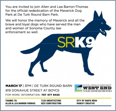 Maverick Invitation March 17, 2011 at 3 p.m. at DeTurk Round Barn Dog Park