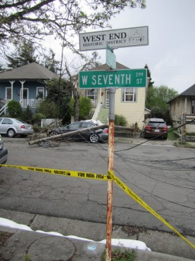 Storm Damage in West End