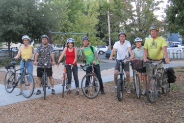 Debi, far left on the August Full Moon ride 2010