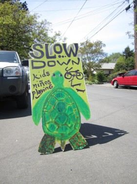 Slow the BEEP down sign by Carissa Green