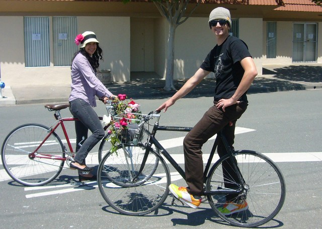 Decorate your bike with roses. Join the parade!