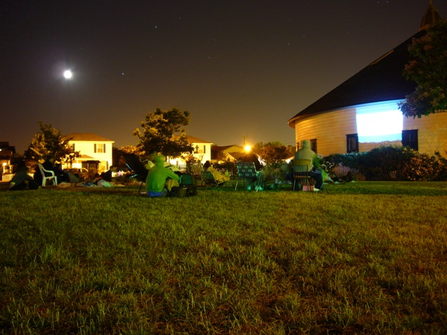 Movie under the stars.