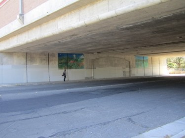 9th St. Undercrossing- BEFORE mural