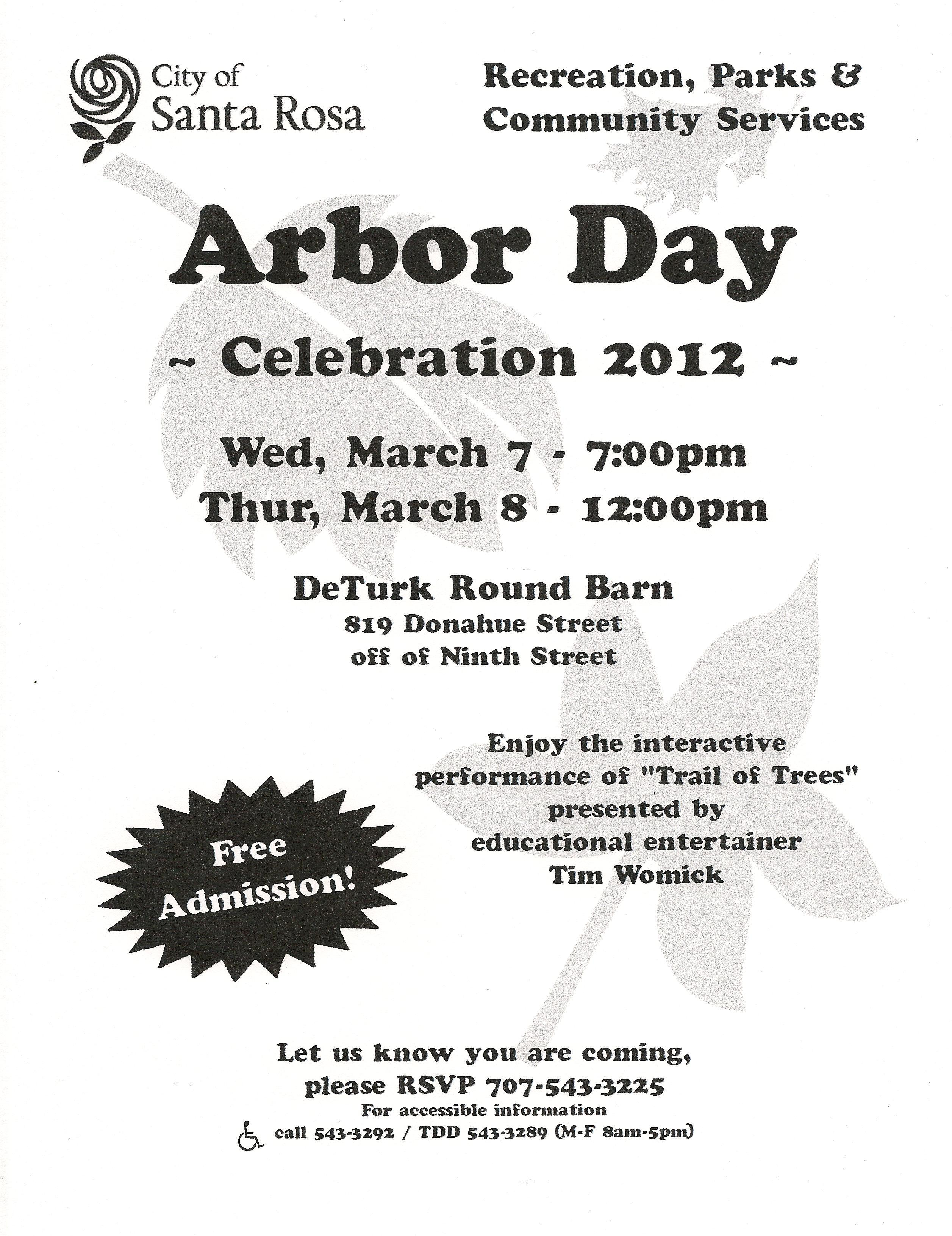 Arbor Day at DeTurk Round Barn