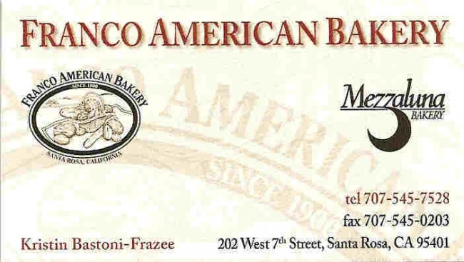 Franco American Bakery is a West End Sponsor