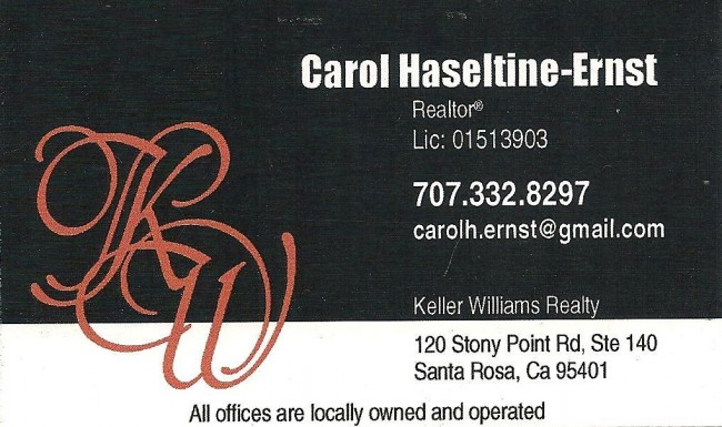 Carol Haseltine-Ernst is a West End Sponsor