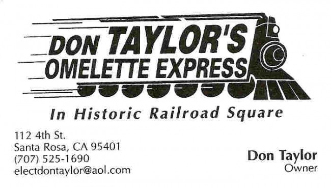 Don Taylor's Omelette Express is a West End Sponsor