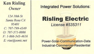 Risling Electric is a West End Sponsor