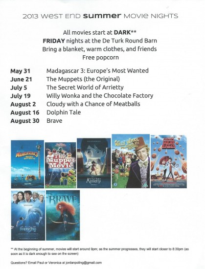 2013 West End Summer Movie Nights