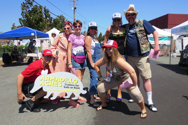 There goes the neighborhood! The Great American Trailer Park Musical cast visits the market