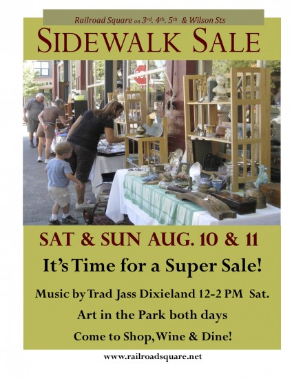 Railroad Square Sidewalk Sale