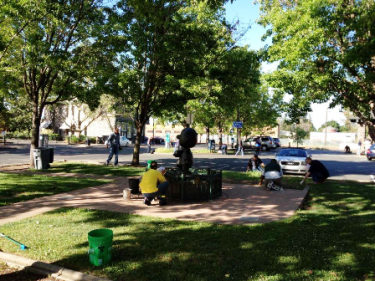 Spring cleaning in Historic Railroad Square