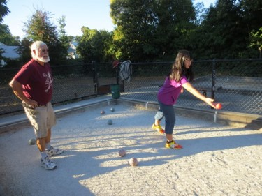 West End Bocce on Friday nights- Come by and play.