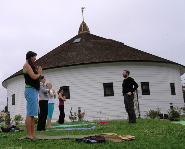 Yoga at the Round Barn every Sunday in August