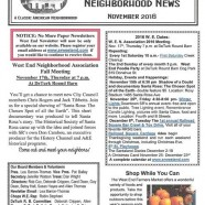 West End  November Newsletter is out!